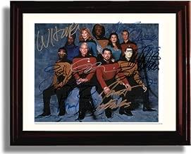 Framed Cast of Star Trek The Next Generation Autograph Replica Print - Star Trek The Next Generation