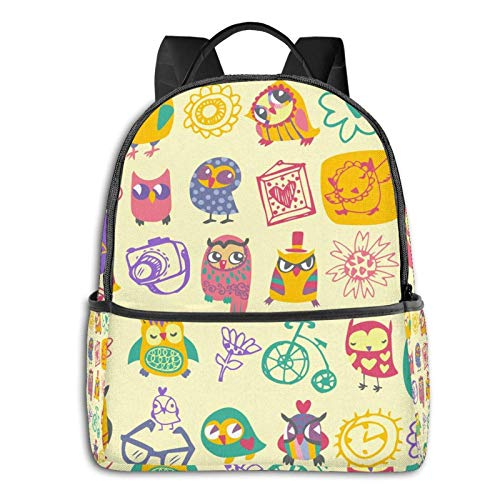 AOOEDM Backpack Shoulder Backpack Blue Galaxy Night Sky with Stars Large School College Backpacks Bag Bookbags