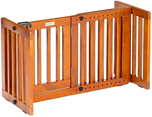 Puerta Para Bebé Puerta Para Mascotas Autoportante de madera Cerca mascotas bebé...