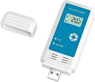 Festnight Enregistreur de donn/ées dhumidit/é de temp/érature USB R/éutilisable RH TEMP Enregistreur de donn/ées Enregistreur Humiture enregistreur avec une capacit/é denregistrement de 12 000