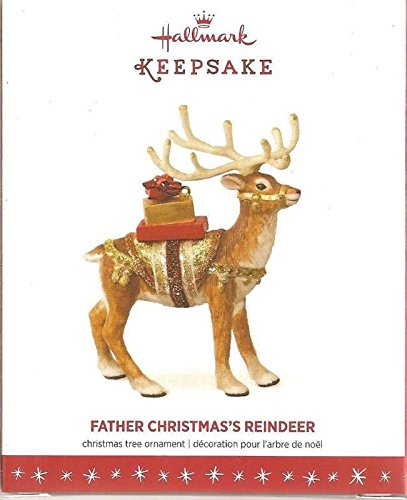 Hallmark Keepsake Father Christmas's Reindeer Limited Release Ornament QXE3141