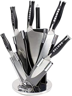 BE PRO Set de 8 Cuchillos + Soporte Fabricados en Una Sola Pieza Chef Deluxe. Acero Inoxidable