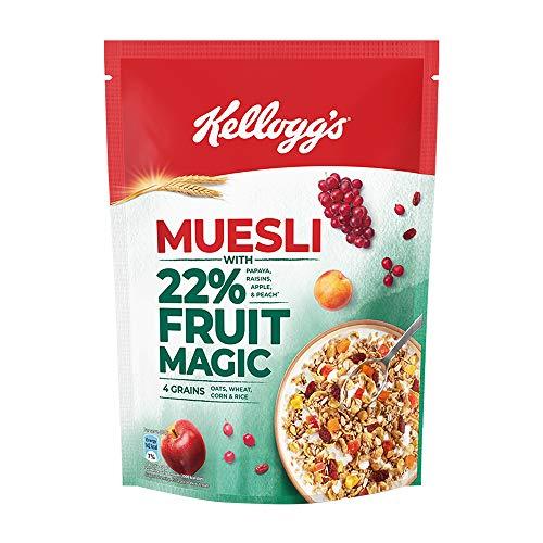 Kellogg's Muesli22%Fruit Magic,Breakfast Cereal,HighinFibre, High in Ironand High in Vitamin...