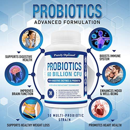 Premium Probiotics 60 Billion CFU with Organic Prebiotics & Digestive Enzymes; Dr. Formulated Probiotics for Women & Men; Shelf Stable Acidophilus Probiotic Supplement, Patented Delay Release Capsules 5