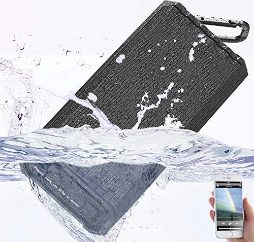 auvisio Lautsprecher wasserfest: Outdoor-Lautsprecher, Bluetooth, Freisprecher, MP3-Player, 25 W, IPX7 (wasserdichte Lautsprecher)