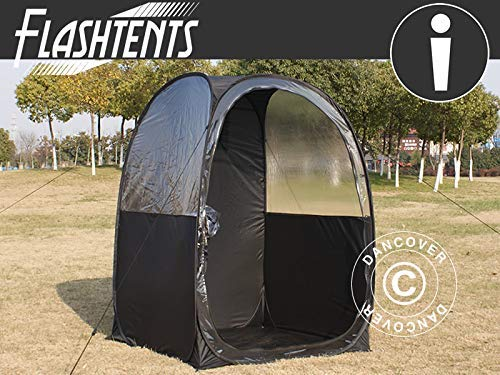 Dancover All Weather Pod/Football Mom pop-up tent, FlashTents, 1 person, Black