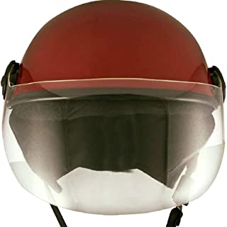 HELMET FOR ALL SAFETY PURPOSE MAROON GLOSSY (SMALL)