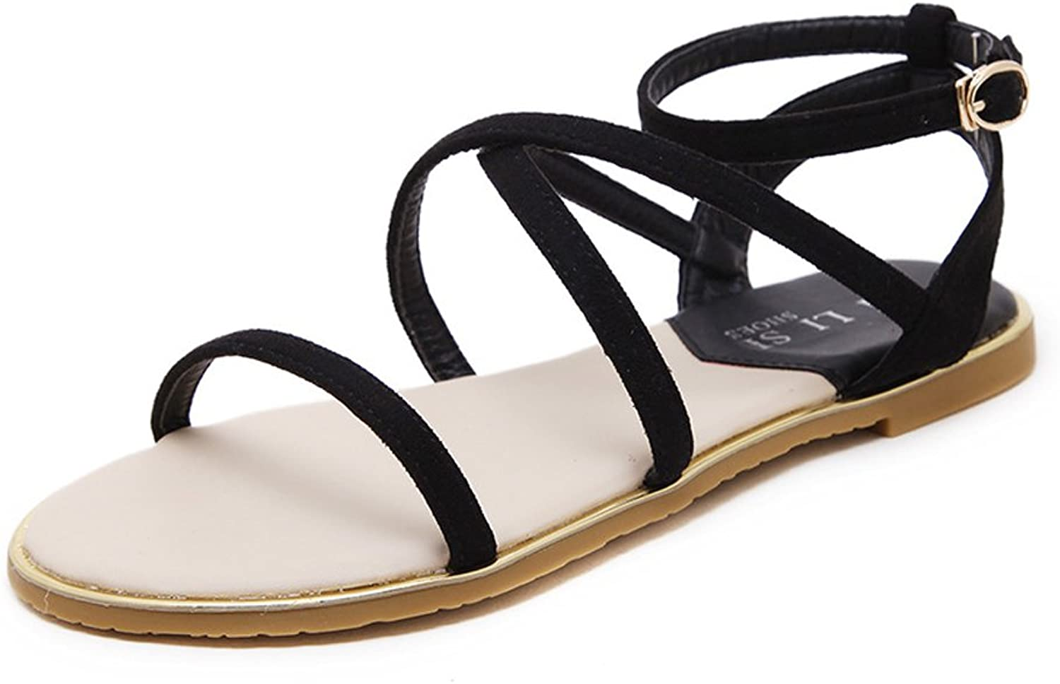 Navoku Womens Leather Ankle Strap Sandles Sandals