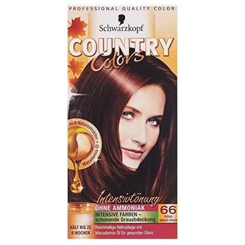 Schwarzkopf Country Colors Intensivtönung, 66 Peru Nougat Braun, 1 Stück, 122,5 ml