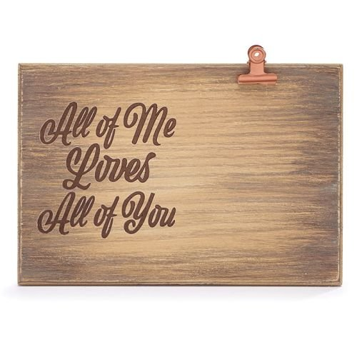 Burton & Burton Natural Wood Love You More Frame with Metal (All of Me Loves All of You)