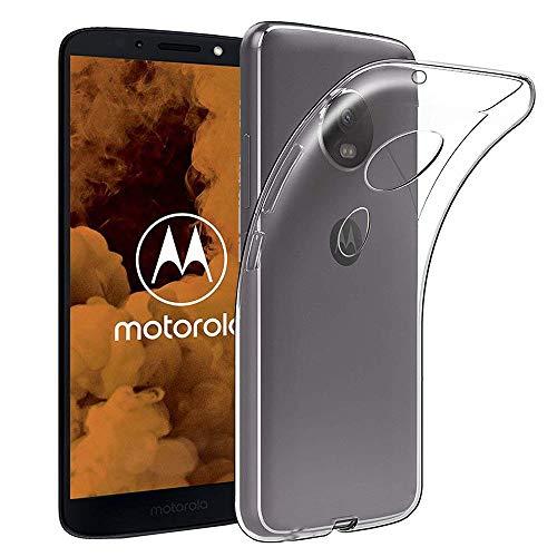 COPHONE® Coque Compatible avec Motorola Moto G6 Play Etui Transparent antidérapent Coque en Silicone Transparente Moto G6 Play et Discrete. Housse Moto G6 Play Haute Protection.
