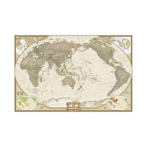 NLLeZ 1 stück Weltkarte 150x100cm wasserdichte Welt physische Karte Vinyl Spray Wandkarte ohne Nationalflagge für Home Craft Büro Dekoration