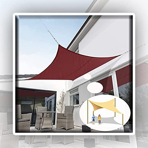WULIL Toldo Vela De Sombra, Toldo con Protección Solar Resistente Al Agua Pantalla De Privacidad De PES Protección contra El Viento, Protección UV, Dispensador De Cortinas Fácil De Instalar