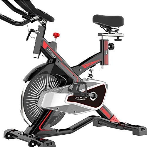 Nfudishpu Bicicleta de Ejercicio Gimnasio en casa Ultra silencioso Pérdida de Peso en Interiores Pedal de Peso Ejercicio Bicicleta giratoria Equipo de Fitness Musical Deportes Estable