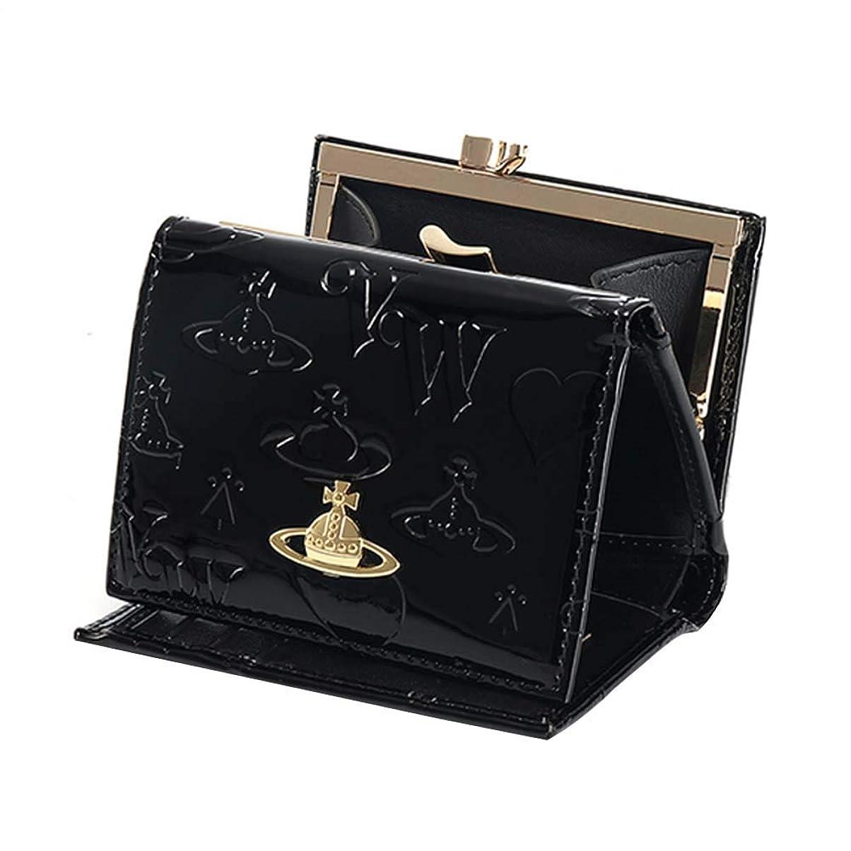 鋼耐える発音Vivienne Westwood ヴィヴィアンウエストウッド 財布 三つ折り財布 mini wallet レディース 女性 スナップ開閉式 小銭入れ 人気 ブラック13110 [並行輸入品]