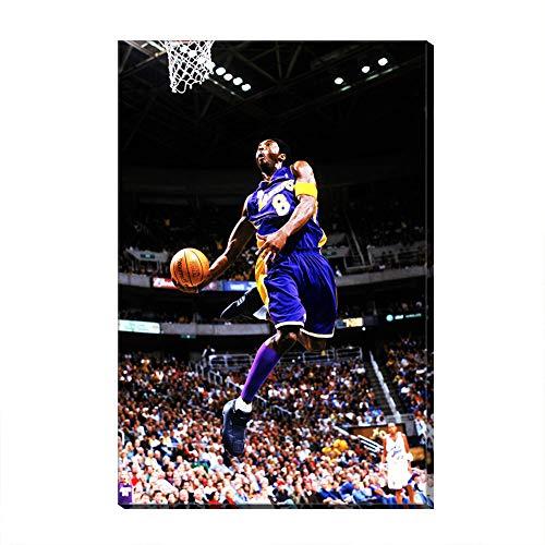 #20 Kobe Art Los Angeles Basketball Sport Poster Canvas Ready to Hang Framed