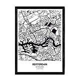 Nacnic Poster mit Karte von Rotterdam - Niederlande.