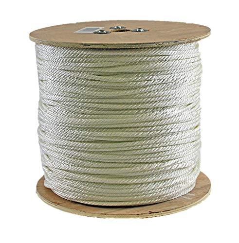 Rope King SBN-141000 Solid Braided Nylon Rope 1/4 inch x 1,000 feet
