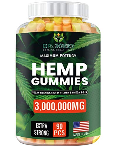Premium Gummies - 3,000,000 – 90 cts - Anxiety, Pain, Stress, Nausea, Inflammation Support – Made in USA