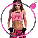 Aoweika Hula Hoop zur Gewichtsreduktion,Reifen mit Schaumstoff ca 0,92 kg mit Mini Bandmaß, Einstellbares Gewicht 0,75 bis 0,92 kg beschwerter Hula-Hoop-Reifen für Fitness