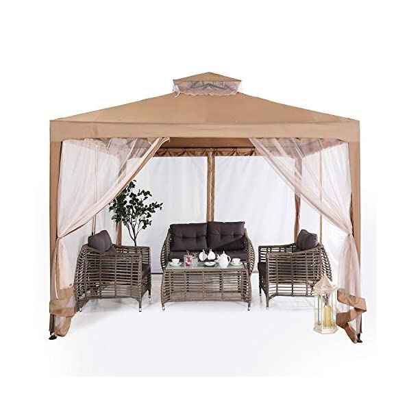 ABCCANOPY 10'x10′ Pop up Gazebo Tent with Mosquito Netting Outdoor Instant...
