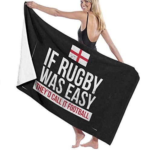 Funny England Rugby - Toallas de playa de secado rápido, súper absorbentes, para natación y al aire libre, 80 x 130 cm
