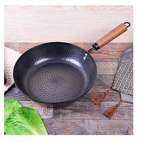 Flat bottom frying pan old iron pan steak no frying pan frying pan uncoated pan