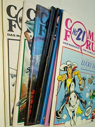 COMIC FORUM 21, 22, 23, 24, 25/26, 27, 29, 30 mit Pacific Rose ( Tardi), Roter Korsar. Fachmagazin für Comicliteratur. Set Sammlung Konvolut