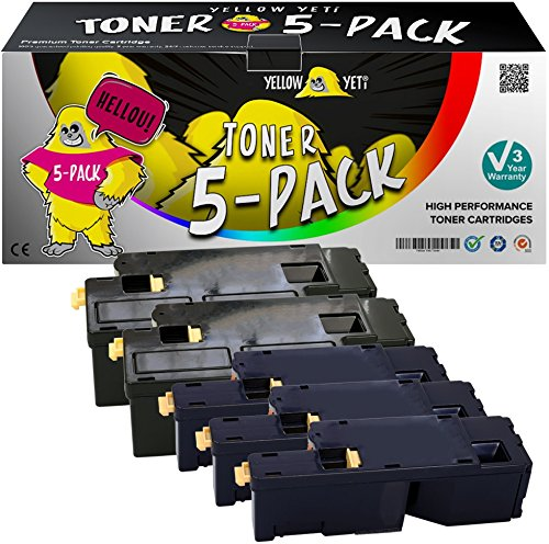 Yellow Yeti 5 Toner compatibili per Xerox Phaser 6000 6010 V/N WorkCentre 6015 V/N V/NI V/B