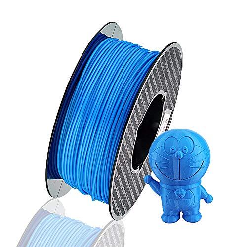 3d printer filament PLA 1.75 mm 3D printer consumables, 1 kg bobbin (2.2 lbs), dimensional accuracy +/- 0.05 mm, 1 pack (blue) 3D printer filament
