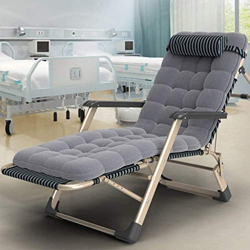 ADHW Sillas reclinables, sillas reclinables al aire libre, jardín al aire libre, silla de relajación, fundas de cojín reclinable, sillón individual acolchado