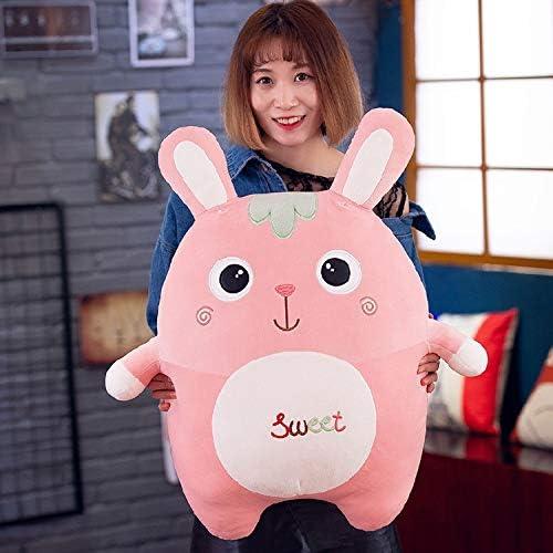 DONGER Bunny Toy Doll Cute Kissen Holding Schlafende Puppe Bett Ragdoll Geburtstagsgeschenk mädchen, Runde Auge, 70Cm