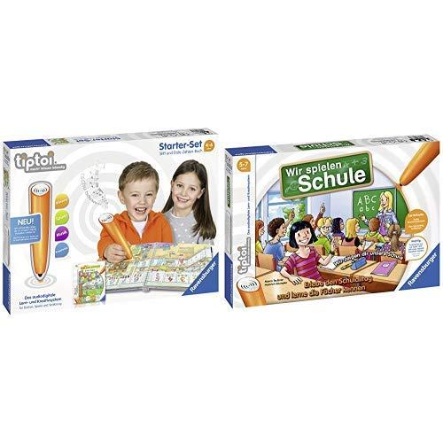 Ravensburger Tiptoi 00803 Starter-Set: Stift und Buch Erste Zahlen &  tiptoi Wir spielen Schule - 00733 / Erlebe interaktiv einen kompletten Schultag