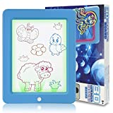 Coolfor Kids Light Up Drawing Board Magic Scribbler Pad with 9 Light Effects LCD Drawing Tablet Glow in The Dark Art Doodle Board Educational Toy Learning Gifts for Kids,Writer,Blue