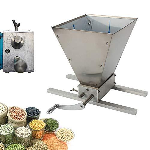 Verstellbare Malzmühle Heimbrauer Schrotmühle Crusher Brewers Futtermühle,mit 2-Edelstahlwalze-Malzmühle