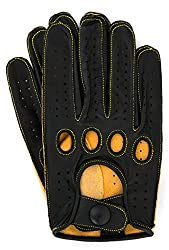 Best Driving Gloves In The World - Riparo Men's Genuine Leather Reverse Stitched Full-Finger Driving Motorcycle Riding Gloves