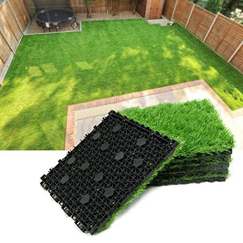 Progoal Kunstrasen-Bodenmatte, zusammensteckbar, selbstentleerend, 30,5 x 30,5 cm, Höhe 3,5 cm
