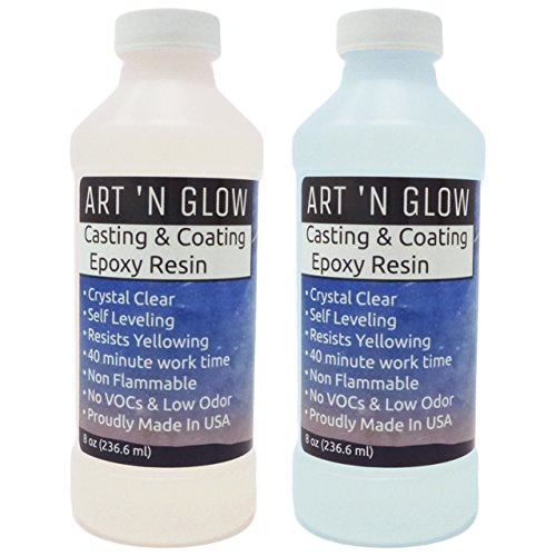 Art 'N Glow Clear Casting and Coating Epoxy Resin - 16 Ounce Kit