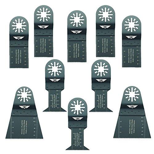 10 x TopsTools UNKA10F Mix Klingen für Bosch Fein (Nicht-StarLock) Makita Milwaukee Einhell Hitachi Parkside Ryobi Worx Workzone Multi Tool Multifunktionswerkzeug Oszillierwerkzeug Zubehör
