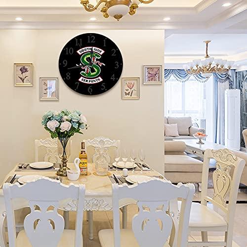 LUHUN 30 cm Wanduhr Rahmenlose Wanduhr mit Geräuschlosem Riverdale - South Side Serpents Moderner Stil Dekoration Wohnzimmer Schlafzimmer Küche