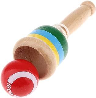 T TOOYFUL 剣玉 けん玉 スキルボール スポーツゲーム パーティーゲーム 木のおもちゃ 2カラー - 赤