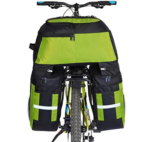 Lightinthebox FJQXZ 70L Bike Panniers Bag,Bike Rack Bag 3 in 1 Waterproof Cycling Bike Bag (Green)