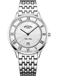 Case Size 38mm Case thickness 5.7mm Case material stainless steel Clasp type: deployment clasp All Rotary watches come with 2 year guarantee
