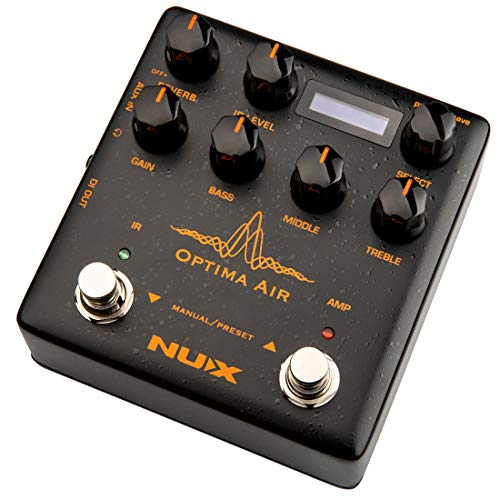NUX Optima Air Dual-Switch Acoustic Guitar Simulator with a Preamp,IR Loader,...