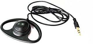 LINHUIPAD - Auricular de un lado en forma de D para escuchar solo 3,5 mm de gancho de interpretación simultánea (1 paquete)