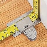 Clip de cinta métrica, herramienta de cinta métrica de precisión, herramienta de ayuda de cinta métrica, lo ayuda a obtener una lectura precisa en curvas, esquinas