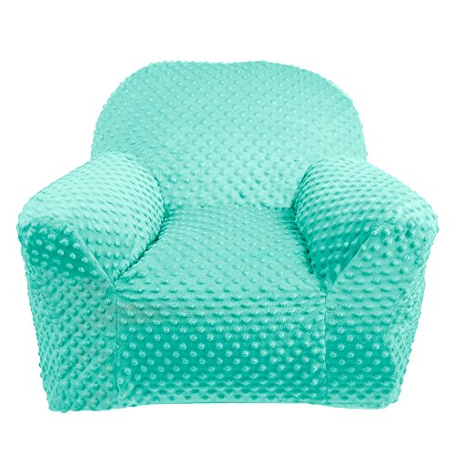 LULANDO Fauteuil pour enfant Plush Minky, léger et doux, antiallergénique, meubles pour enfant, certifié Oeko-Tex Standard 100, Farbe:Mint