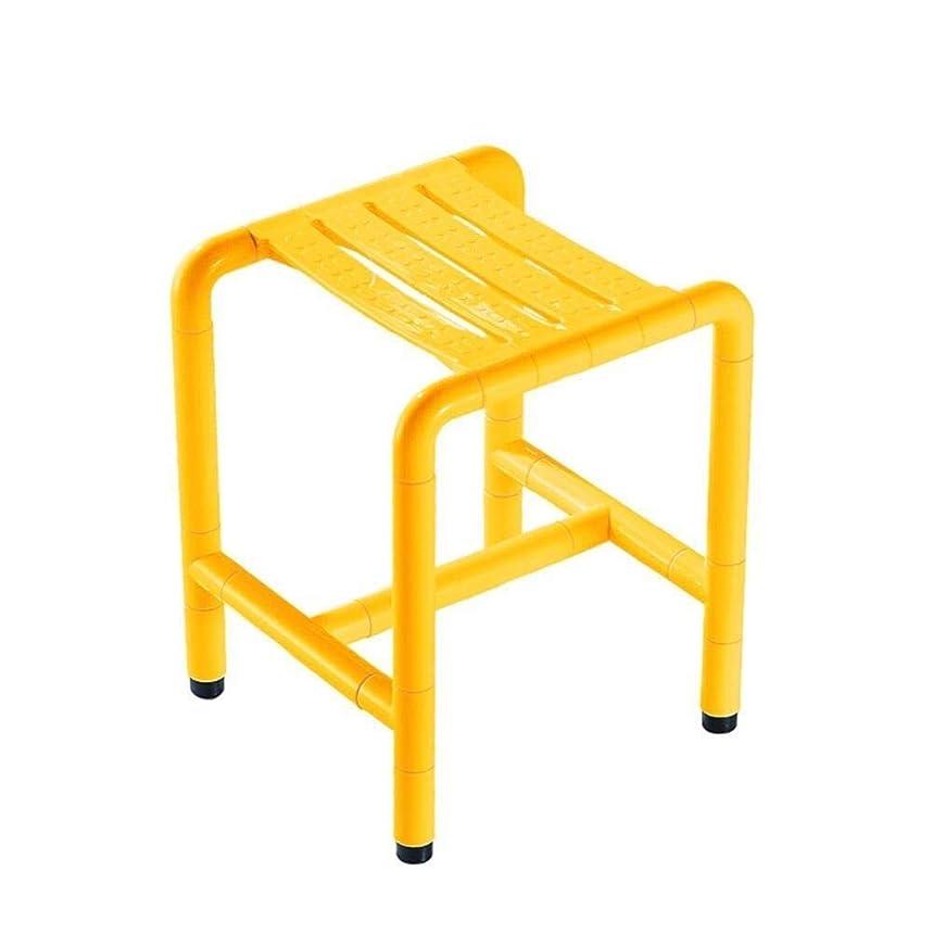 プリーツ希少性ブレークバスシート、軽量高さ調節可能なシャワースツール、バスルームの安全性とセキュリティ、高齢者、身体障害者 (Color : 黄)