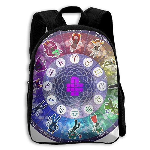 Zodiac Troll Wheel School Backpack Children Shoulder Daypack Kid