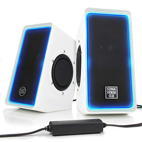 GOgroove Desktop Speakers for Laptop Computer - SonaVERSE O2i Gaming...